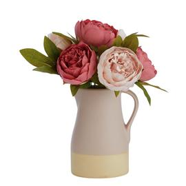 Argos Home Artificial Botanist Peonies in Pitcher