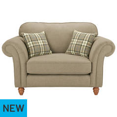 Argos Home Windsor Fabric Cuddle Chair - Natural