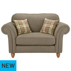 Argos Home Windsor Fabric Cuddle Chair - Fawn