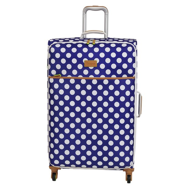 3909f357 IT Luggage 4 Wheel Large Semi Expander Suitcase - Blue872/7907