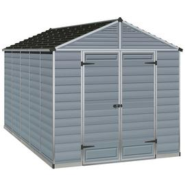 Palram Skylight Plastic 8 x 12ft Shed - Dark Grey