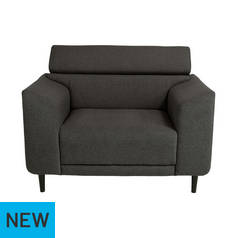 Argos Home Jonas Fabric Cuddle Chair - Charcoal