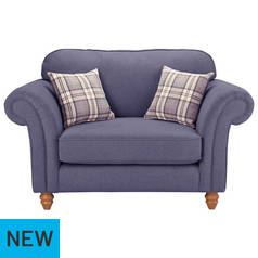 Argos Home Windsor Fabric Cuddle Chair - Lilac