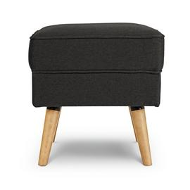 Argos Home Callie Fabric Footstool - Charcoal