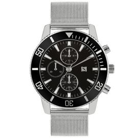 Spirit Men's Silver Mesh Bracelet Strap Watch