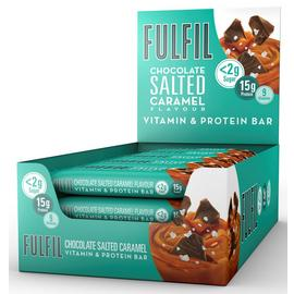 FULFIL Salted Caramel Snack-Size Vitamin Protein Bars 15x40g