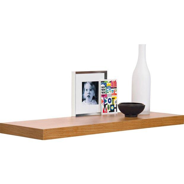 Buy Argos Home Glenmore 80cm Floating Shelf - Oak Effect   Wall mounted and  floating shelves   Argos