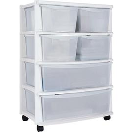 Argos Home 6 Drawer Plastic Wide Tower Storage Unit