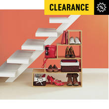 HOME Understairs Shoe Storage Unit - Beech Effect