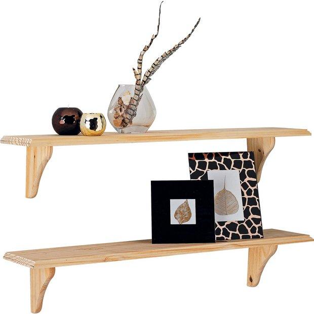 Buy HOME 89cm Set Of 2 Wooden Shelves