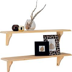 Argos Home 89cm Set Of 2 Wooden Shelves