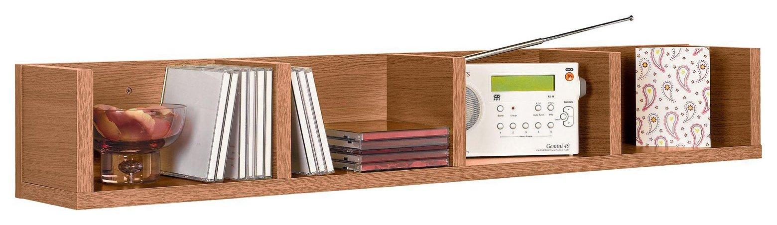 HOME Virgo CD And DVD Media Storage Shelf   Oak Effect