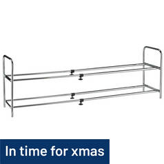 Argos Home 2 Shelf Ext Shoe Storage Rack - Chrome Plated