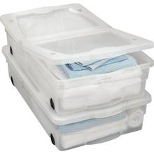 Argos Home 50 Lt Plastic Underbed Storage w/ Lids - Set of 2