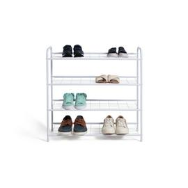 Habitat 4 Shelf Shoe Storage Rack - White