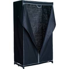 Argos Home Single Fabric Covered Clothes Rail - Black