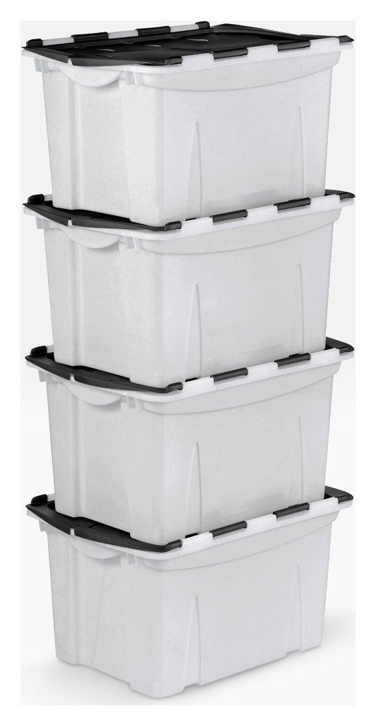 Argos Home 40 Lt Blk Crocodile Lid Storage Boxes - Set of 4  sc 1 st  Argos & Results for folding storage boxes