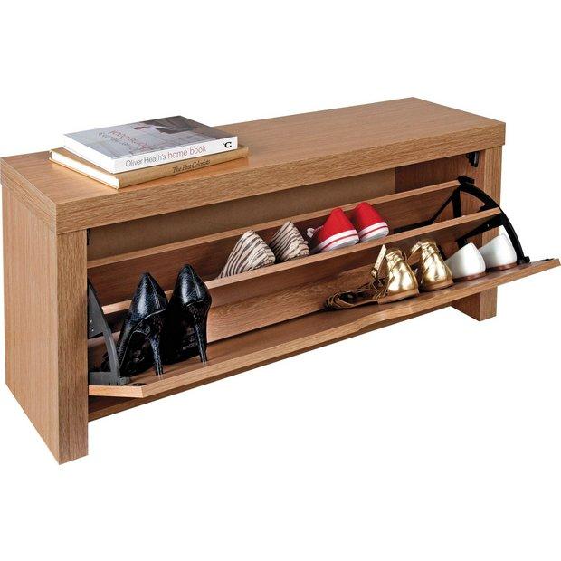 buy home cuban shoe storage cabinet oak effect at argos. Black Bedroom Furniture Sets. Home Design Ideas