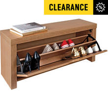 HOME Cuban Shoe Storage Cabinet - Oak Effect