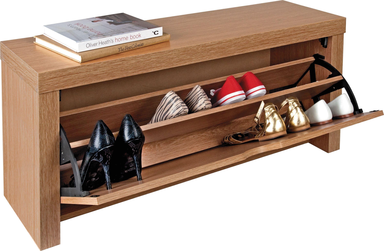 home cuban shoe storage cabinet oak effect