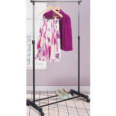 Argos Home Adjustable Chrome Plated Clothes Rail - Black