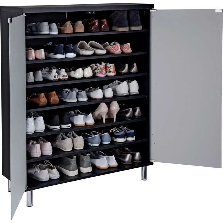 Buy Home Milan Frosted Glass Door Shoe Storage Cabinet