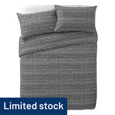 Argos Home Stockholm Grey Dash Print Bedding Set - Double