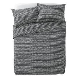 Argos Home Stockholm Grey Dash Print Bedding Set