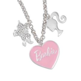 Barbie Unicorn and Pink Heart Charm Necklace