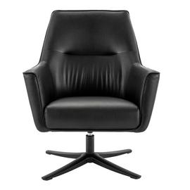 Habitat Rhett Faux Leather Swivel Chair - Black
