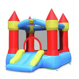 Happy Hop Castle Bouncer With Slide And Hoop