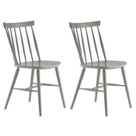 Habitat Talia Pair of Spindle Back Dining Chair - Grey