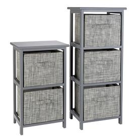 Argos Home 2 and 3 Drawer Bathroom Units - Grey