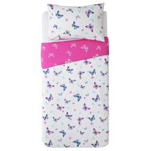 Argos Home Pink Reversible Butterfly Bedding Set