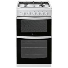 Indesit ID5G00KMW 50cm Twin Cavity Gas Cooker - White
