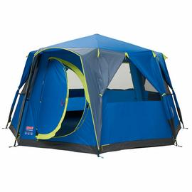 Coleman 8 Man 1 Room Octagon Dome Camping Tent - Blue/Grey