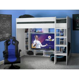 Argos Home White Gaming High Sleeper Bed Frame