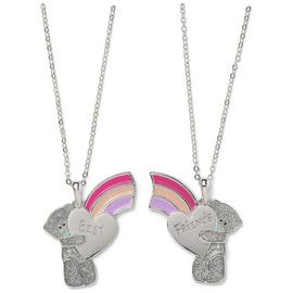 Me to You Silver Plated Best Friends Rainbow Necklace Set