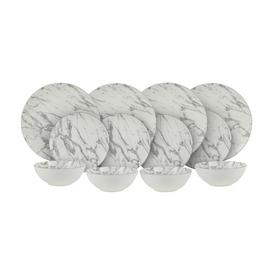 Argos Home 12 Piece Marble Dinner Set