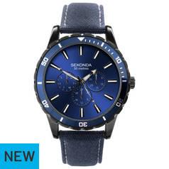 b0e039ce8a8e Sekonda Blue Dial Mens Adjustable Strap Watch