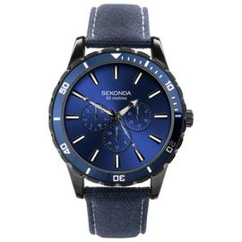 Sekonda Blue Dial Mens Adjustable Strap Watch