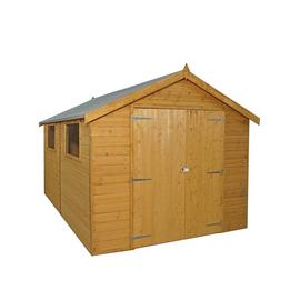 Mercia Wooden 12 x 8ft Shiplap 2 Glazed Window Shed