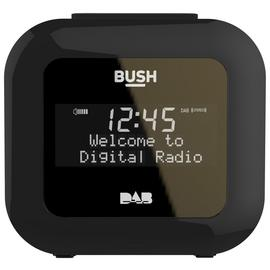 Bush USB DAB Clock Radio - Black