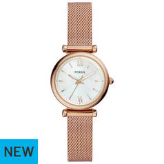 Fossil Rose Gold Coloured Dial Ladies Watch