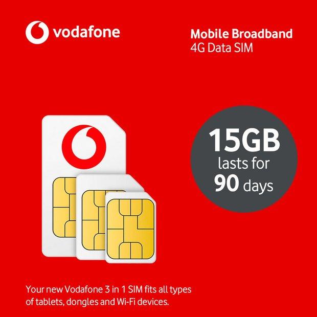 Buy Vodafone 15GB Pay As You Go Data SIM Card | Mobile phone SIM cards |  Argos