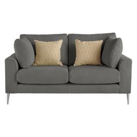 Argos Home Beckett 2 Seater Fabric Sofa - Charcoal