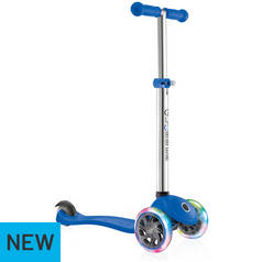Globber Primo Lights Scooter - Blue