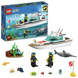 LEGO City Diving Toy Yacht Construction Set - 60221