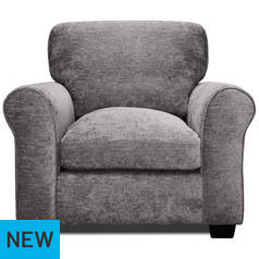 Argos Home Tammy Fabric Armchair - Charcoal