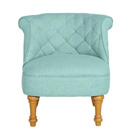 Argos Home Mika Quilted Fabric Accent Chair - Light Blue